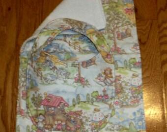 Nursery Bib and Burp Cloth