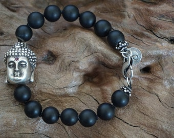 Black onyx silver Buddha-Sugati 99