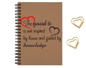 Notebook Journal inspirational, travel notes, diary  size 5x8