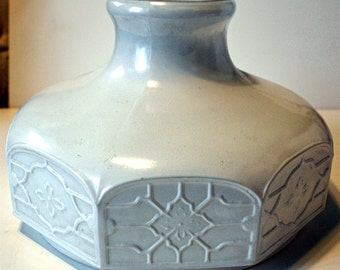 Antique Aladdin Model 301 Satin White Glass Oil Lamp Shade
