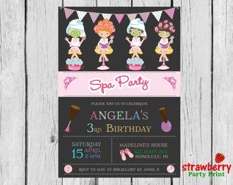 Spa Invitation, Spa Party Invitation, Spa Birthday Invitation (Personalized), Digital Printable File