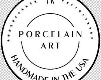 European Style handmade in USA real porcelain pendant