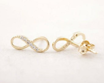 Gold Plated 'Infinity' Earrings