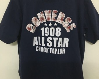 Vintage 90's Converse All Star 1908 Chuck Taylor Design Shirt Size L #B35