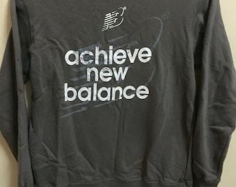 Vintage 90's New Balance Classic Design Skate Sweat Shirt Sweater Varsity Jacket Size M #A86