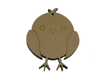 10 * Chick Shapes  4cm - 10cm , Option To Have With Or Without Hanging Hole