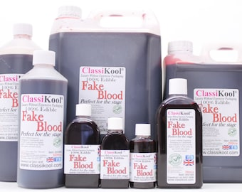Classikool Fake Blood Mouth Safe Stage & Halloween Fancy Dress Make Up in 6 Size Options (Free UK Mainland Shipping)