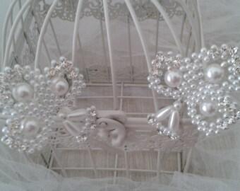 Acconciatura sposa matrimonio forcine wedding hairpin hairstyle white pearls