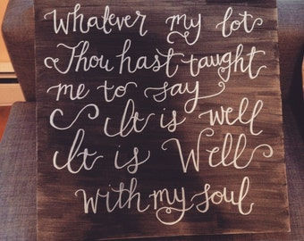 Well with my soul wall art
