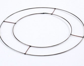 """2 x Copper Flat Wire Wreath Ring - 8"""" -  Craft, Rag Wreaths, Flowers, Floristry, Christmas"""