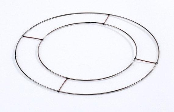 2 X Copper Flat Wire Wreath Ring 8 Craft Rag