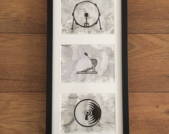 Three Piece Drum Print