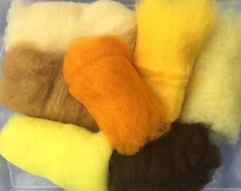 75% OFF! Wool Roving Carded Merino 7 Colors - Felting Spinning Felting Needle Felting Dry Felting Wet Felting Wool Painting 7Y1