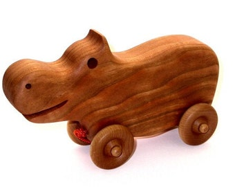 Hippo Pull Toy Woodworking Plan