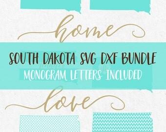South Dakota Svg Svg Fonts Svg Monogram Svg Monogram Frames Cricut svg Silhouette svg designs png dxf jpg svg svg bundle cutting files
