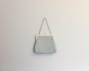 1970s Genuine Glomesh White Handbag