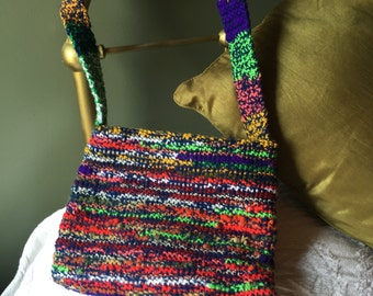 Multi-Color Tight Weave Crocheted Purse