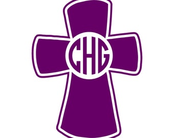 Personalized Cross Decal/Sticker