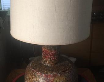 Large Retro Mid Century Modern/ Brutalist  Ceramic Lamp