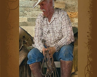 Been There - Done That     Western Art Ranch Cowboy Southwestern Rustic