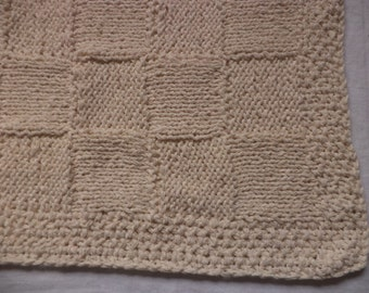 Baby blanket cotton 75 cm or 105 cm x 65 cm knitted wool
