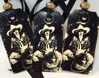 Cowgirl Gift Tags - Western - Rodeo - Handmade