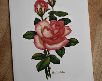 Louise Estes rose notecards featuring acclaimed artist Louise Estes