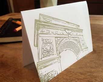 Washington Square Park Notecards - set of blank cards with envelopes