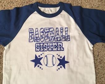 Baseball sister shirt!