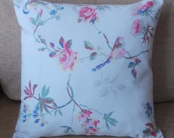"Handmade Cath Kidston ""Birds & Roses"" cushion pillow covers. 14"" x 14"""