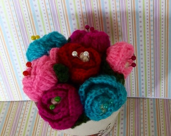 Ladybird and rose pincushion
