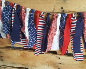 4th of July fabric garland