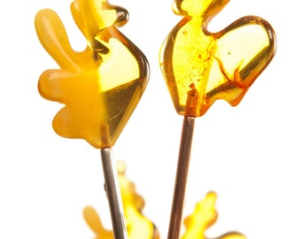 Caramel lollipops