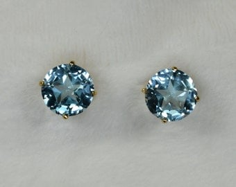 Lone Star Swiss Blue Topaz earrings
