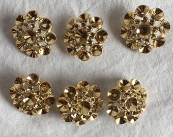 Lot of 49 Vintage gold buttons