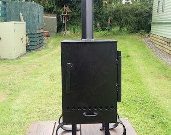 Log burner camping stove