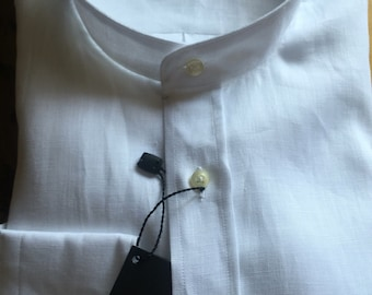 Linen 100% with Mandarin collar shirt