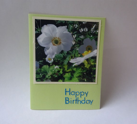 Birthday Card with Japanese Anemone Flower - #712