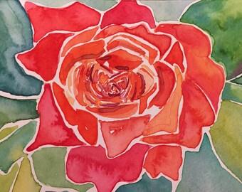 """Happy Rose - 5x7"""" Print"""