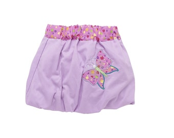Skirt embroidered child ball Butterfly