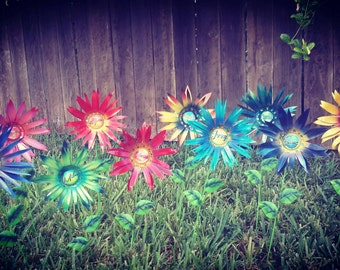 Grandma's Favorite Garden Flowers - Metal Garden Stakes - Personalized Garden Decor-Metal Flowers