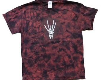 Bones Guitar Pick Grateful Dead inspired Tie Dye T-shirt / Jerry Garcia/