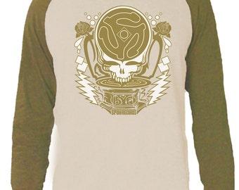 Grateful Dead Long sleeve T-Shirt/Spun Dead/ Steal Your Face with 13 Point Lightning Bolts /Spun Records