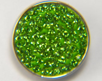 18mm Green Sugar Sparkle Snap