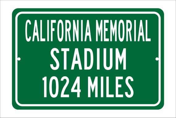 Custom College Highway Distance Sign to California Memorial Stadium | Home of the Berkeley Golden Bears | Golden Bears Football |