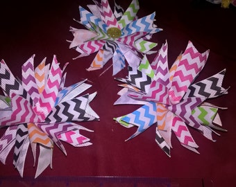 Spiked hair bows