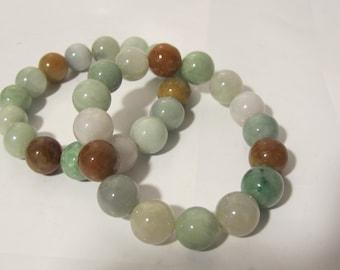Multi Colored Jade Bracelet