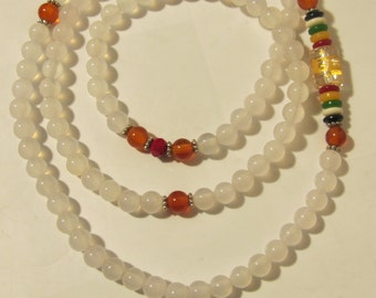Natural white Gemstone Necklace
