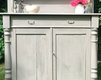Now SOLD ... Painted Wooden French Chiffonier / Sideboard / Drinks Cabinet / Linen Store