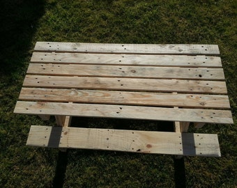Kid's picnic table/ reclaimed wood.